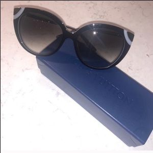 Louis Vuitton Women's Black Cat-Eye Sunglasses